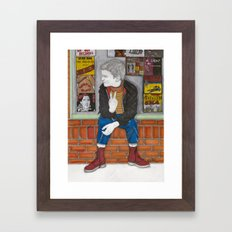 Little Skinhead Framed Art Print