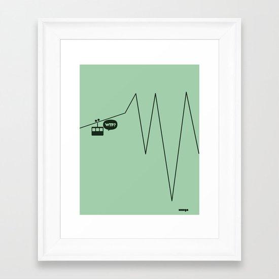 WTF? Riel! Framed Art Print