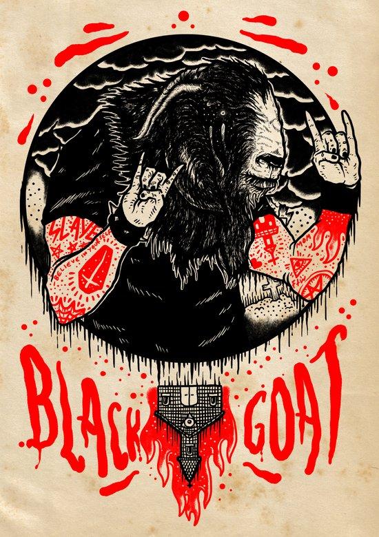Black Goat Art Print