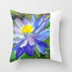 Blue Violet Lotus flower Throw Pillow
