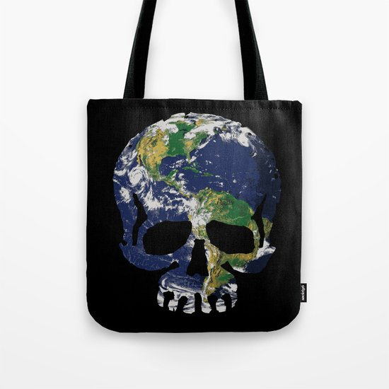 Skull Earth Tote Bag