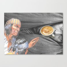 Always On The Trail Of The Best Latte When In A New Town Canvas Print