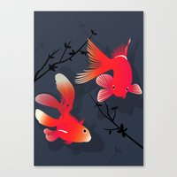 Like a fish in the sea Canvas Print