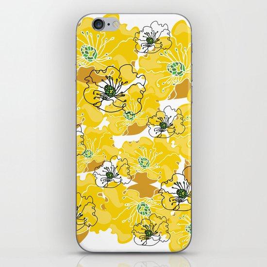 yellow marzipan flowers iPhone & iPod Skin