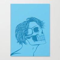 Skull Girl 6 Canvas Print