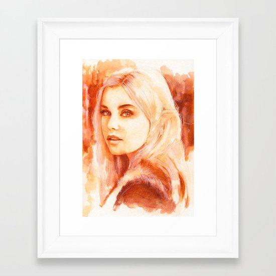 Tell me your stories Framed Art Print