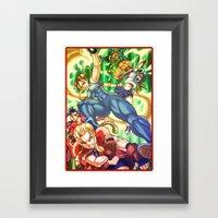 Pixel Art Series 17 : Ba… Framed Art Print