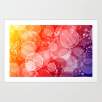 Party Bubbles Art Print