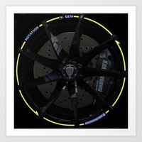 Koenigsegg Agera R wheel Art Print