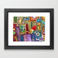 Pretty City Framed Art Print