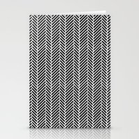 Herringbone Black Invers… Stationery Cards