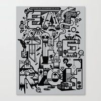 EAT THE RICH Canvas Print