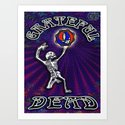 Grateful Dead Dancing Skeleton Beautiful Elegant Optical Illusion Design Art Print