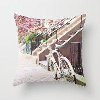 Bike Alongside Stoops In… Throw Pillow