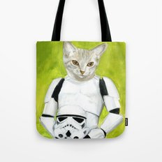 Poopy the Kitty Storm Trooper  Tote Bag