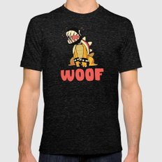 Woof Mens Fitted Tee Tri-Black SMALL