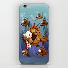Psycho Fish Piranha with Bone iPhone & iPod Skin