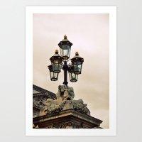 leave the light on Art Print