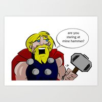 Mine Hammer Art Print