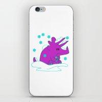 Freezing Triceratops iPhone & iPod Skin