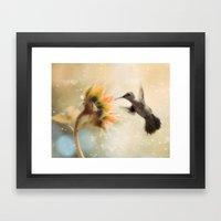 Like a Moth To a Flame Framed Art Print