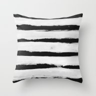 BW Stripes Throw Pillow