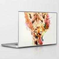 giraffe Laptop & iPad Skins featuring giraffe by RIZA PEKER