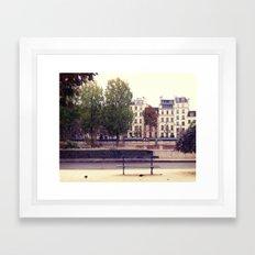 Parisienne Bench Framed Art Print