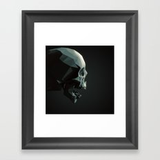 Skull roar - black Framed Art Print