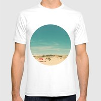 Red Umbrella Summer Mens Fitted Tee White SMALL