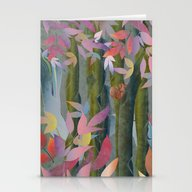 Autumn By A Waterfall Stationery Cards