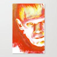 Frankenstein, What Etern… Canvas Print