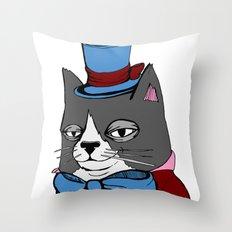 Dignified Cat Throw Pillow