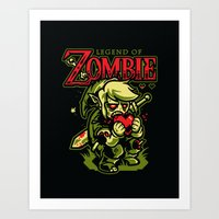 Legend Of Zombie Art Print