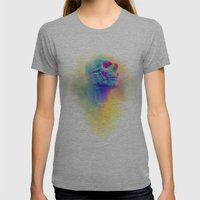 SKULL CANDY Womens Fitted Tee Athletic Grey SMALL