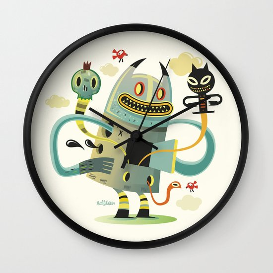 promenade without background wall clock by exit man