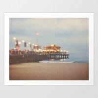 Beach Candy. Santa Monica pier photograph Art Print