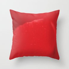Red Flower Petal - Macro - Fine art Print for interior decoration Throw Pillow