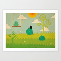 LILLL Monsters Art Print
