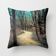 A Winter's Journey Throw Pillow