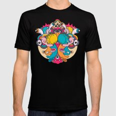 Daily Drawing 2039 Mens Fitted Tee Black SMALL