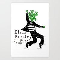 Elvis Parsley Art Print