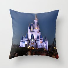 Cinderella's Castle II Throw Pillow