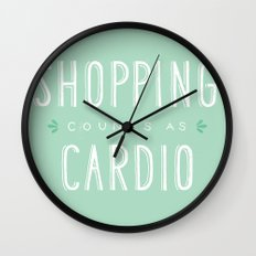 Shopping Counts As Cardio Wall Clock