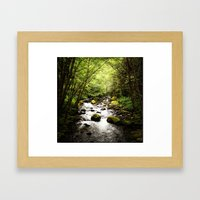 Herman Creek, OR Framed Art Print