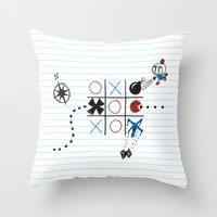 Tic Tac Tedium Throw Pillow