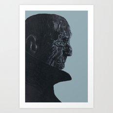 Blue old man Art Print
