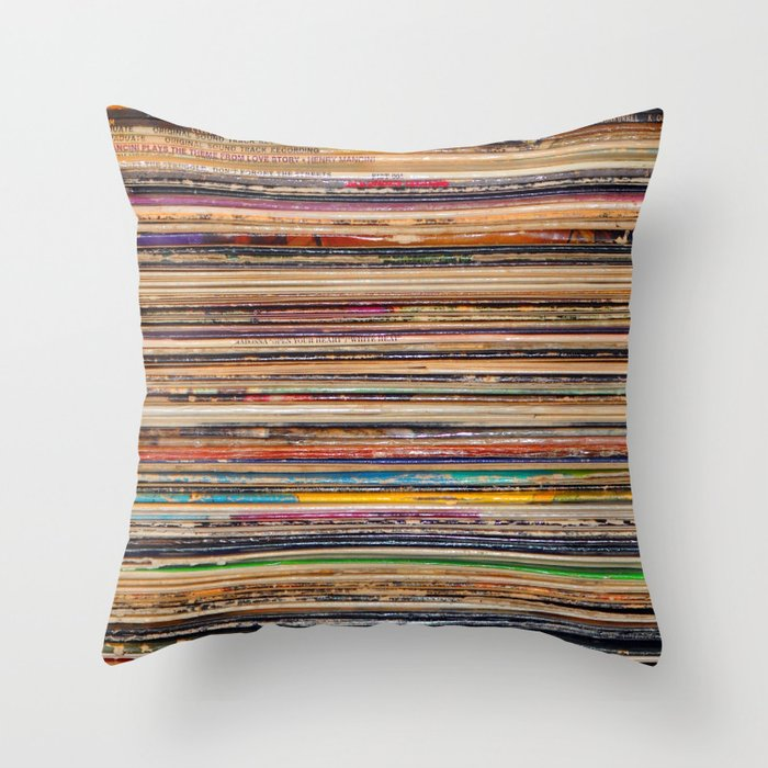 Vinyl Throw Pillows : Vinyl Throw Pillow by Elle Moss Society6