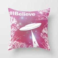 #Ibelieve UFO Throw Pillow