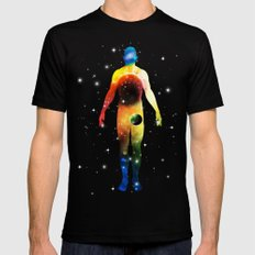 The Universe is in Us Mens Fitted Tee Black SMALL